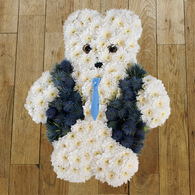 Boy teddy funeral wreath