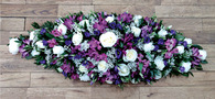 Purple & White Casket Top