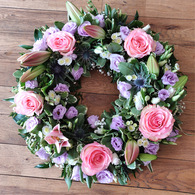 Pink and Lilac Wreath