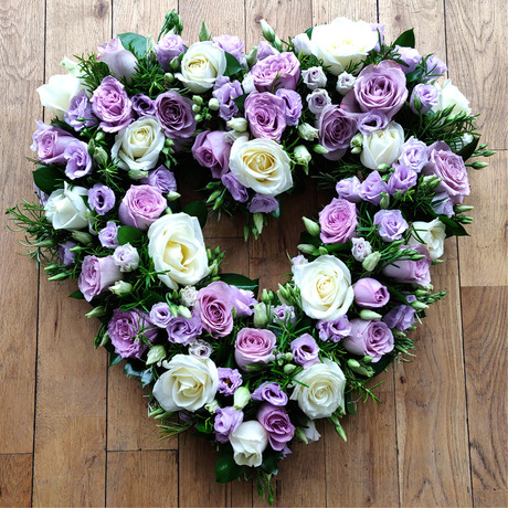 White and Lilac Open Heart