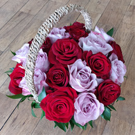 Heavenly Pink and Red Basket