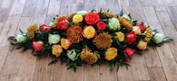 Rose and Chrysanthemum Casket Top