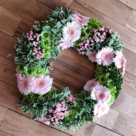 Light Pink Gerbera Wreath